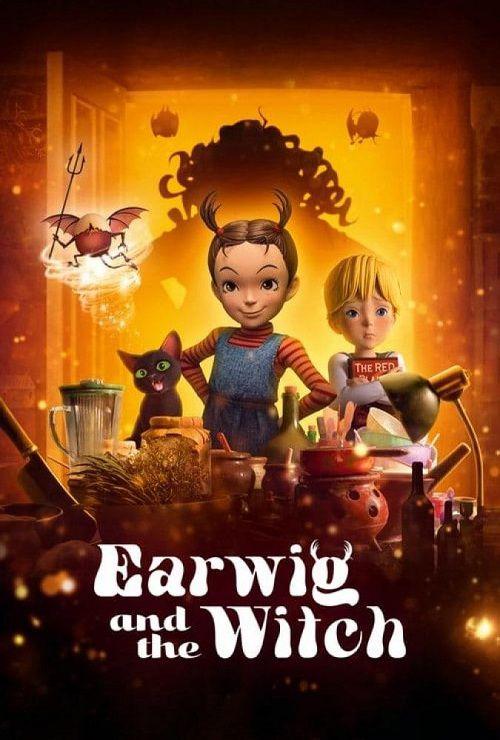 دانلود انیمیشن ایرویگ و ساحره دوبله فارسی Earwig and the Witch 2020